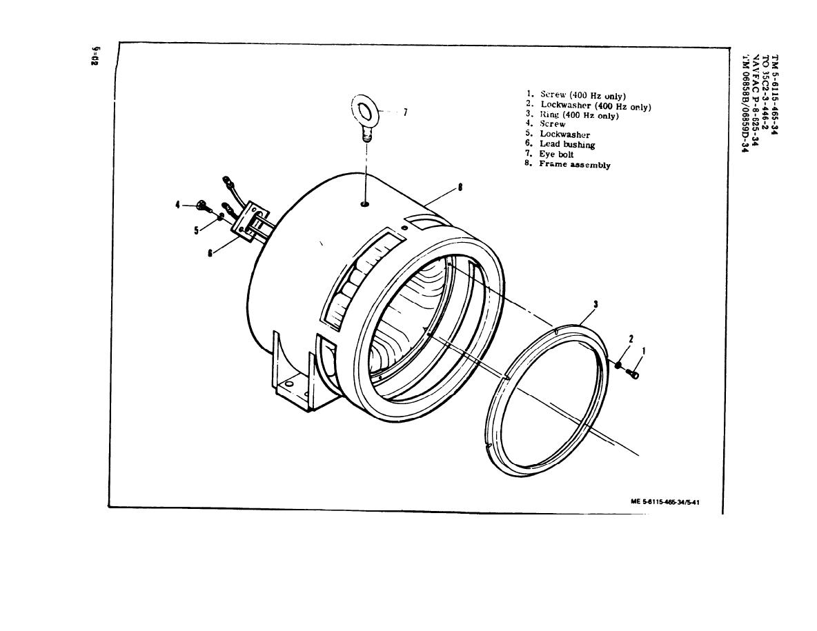 Figure 5-41. Generator Stator Assembly, Exploded View