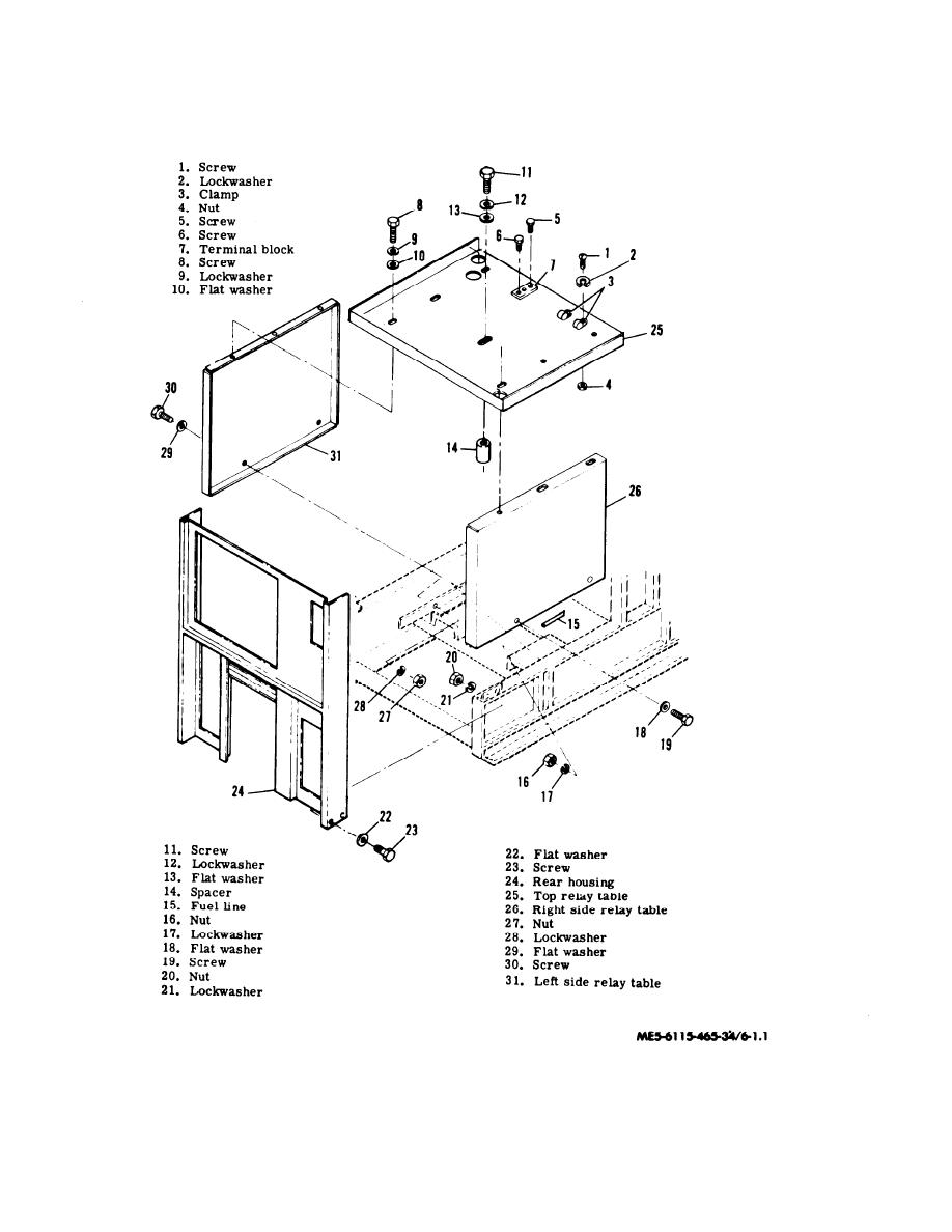 Figure 6-1. Relay Table Assembly, Exploded View