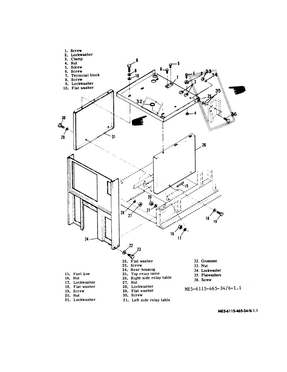 Figure 6-1.1. Relay Table Assembly, Exploded View