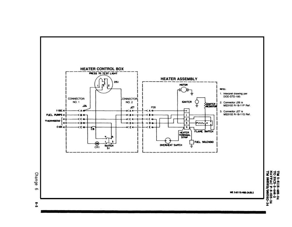 medium resolution of fuel burning heater control assembly wiring diagram drawing no 72 2863