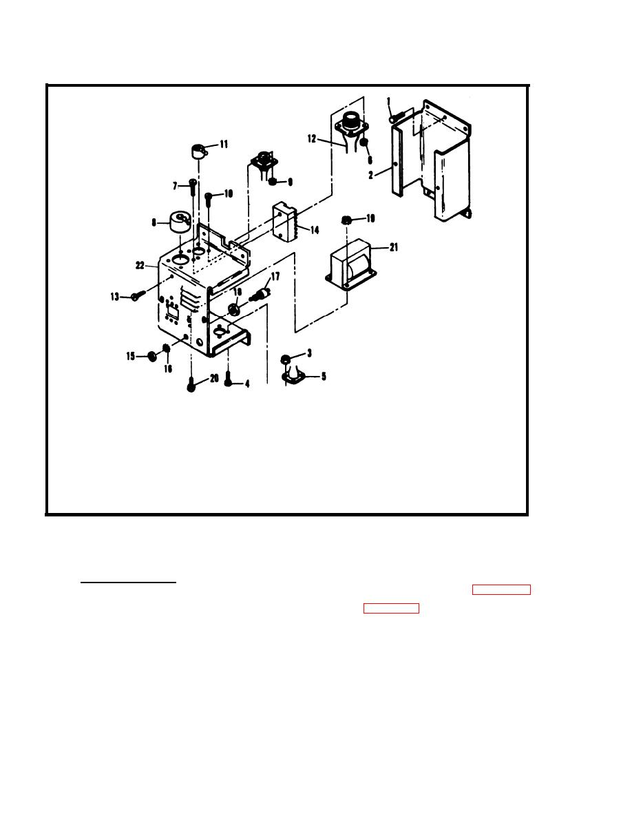 Figure 8-14. Load Bank Control Box Assembly, Exploded View