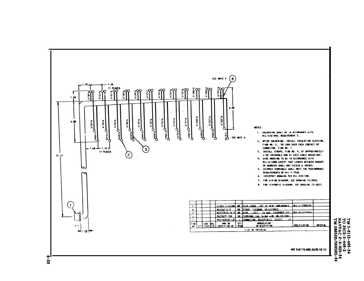 Figure 8-19. Top Load Bank Wiring Harness (Sheet 1 of 2