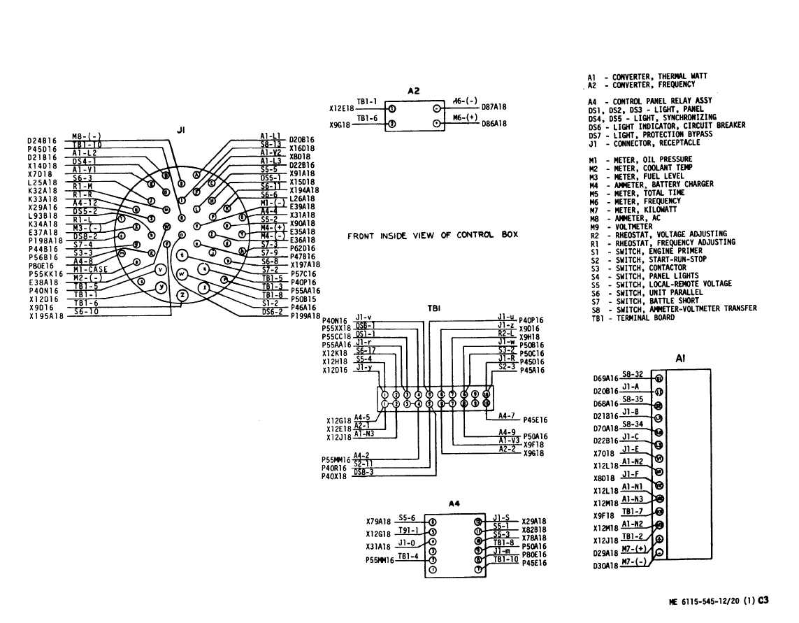 Figure 3-20. Control Cubicle Wiring Diagram (Sheet 1 of 2)