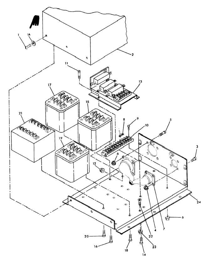 Figure 8-2. Tactical Relay Box Assembly