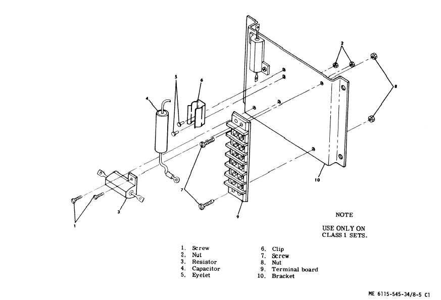 Figure 8-5. Resistor Assembly (A6)