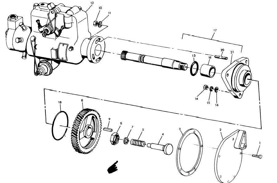 Figure 14-20. Injector Pump and Related Parts