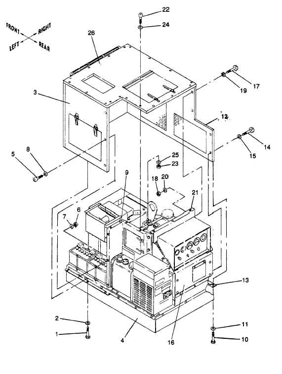 Figure 5-2. Cover Assembly, Removal and Installation