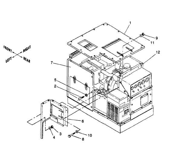 Figure 5-10. Side Closure Assembly, Removal and Installation