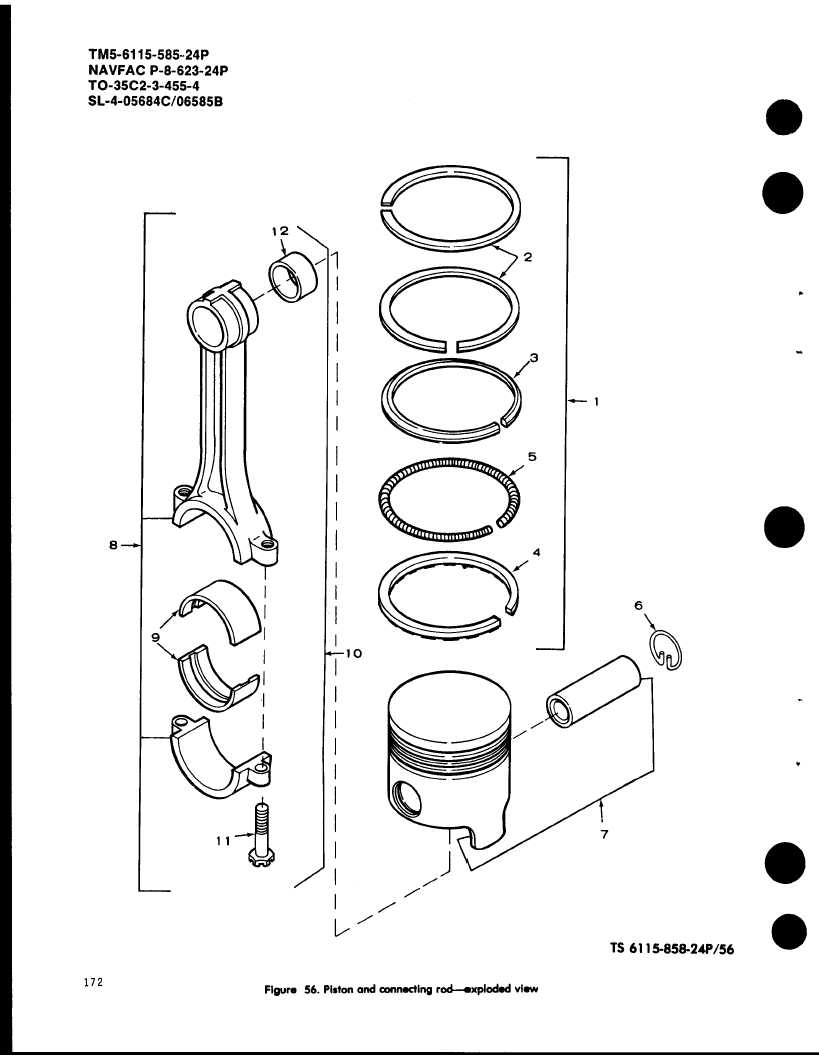 Figure 56. Piston ond connecting rod--exploded view