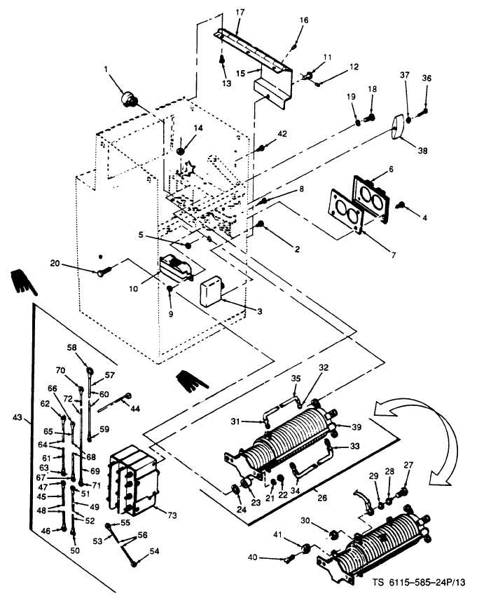 FIGURE 13. AC Control circuit breakers, rotary switch and