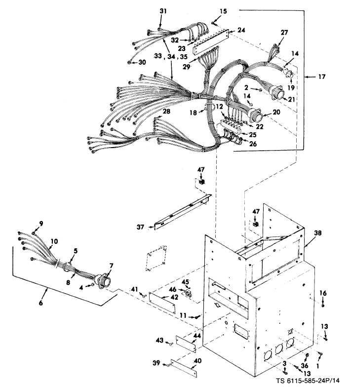 FIGURE 14. AC Controlwiring harness, rectifier bridge and