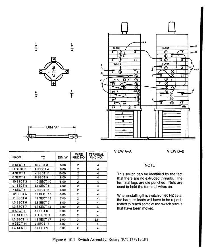 Figure-6-10.1 Switch Assembly, Rotary