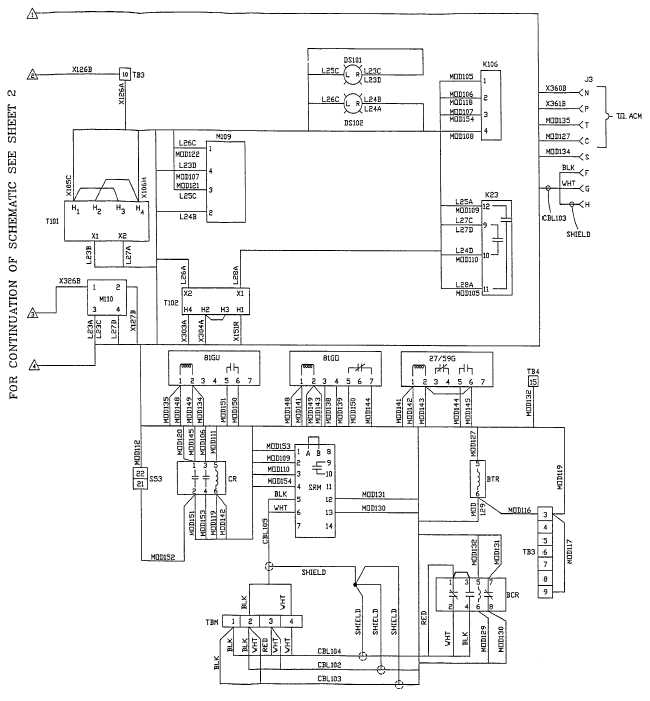 FO-4 AC Wiring Diagram (Sheet 1 of 4)
