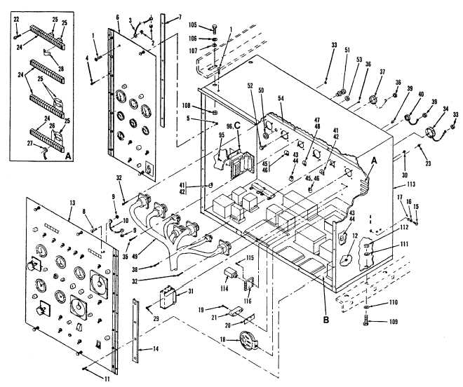 Figure 24. Control Cubicle Assembly (Sheet 1 of 2)