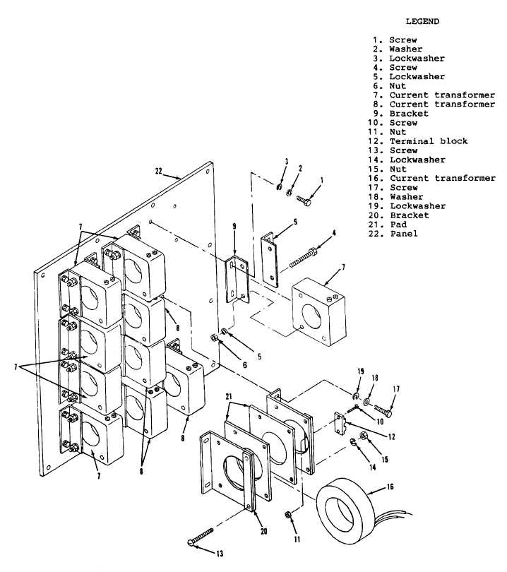 Figure 11-2. Current Transformer Assembly, Exploded View