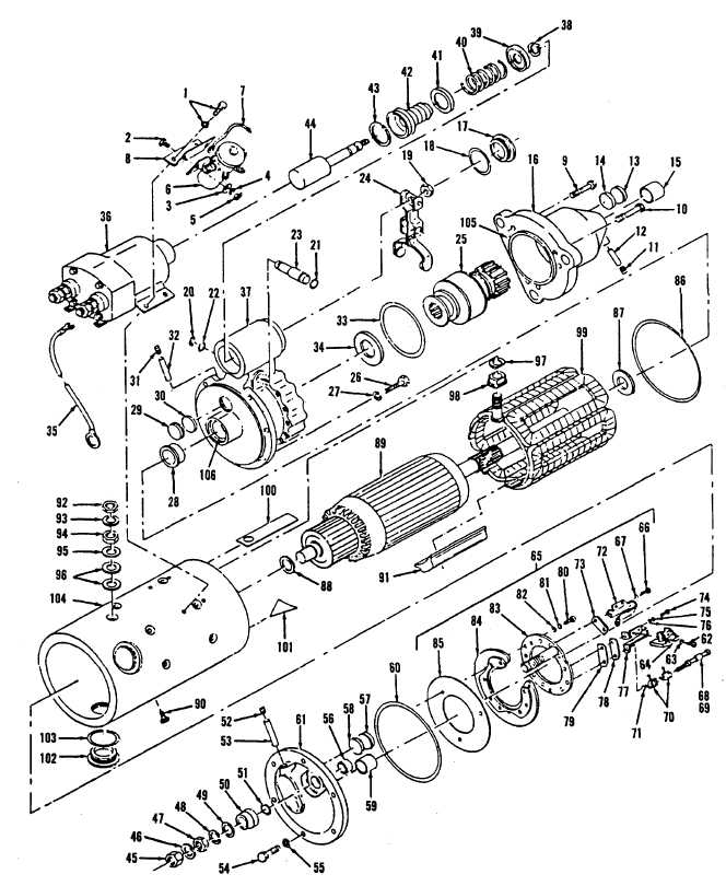 Figure 13-4. Starter Assembly, Exploded View (Code A)