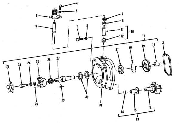 Figure 13-12. Mainshaft-Cover and Tachometer Drive