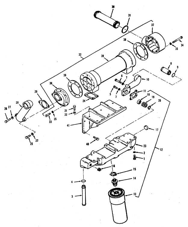 Figure 13-14. Lubricating Oil Cooler, Exploded View, Code A
