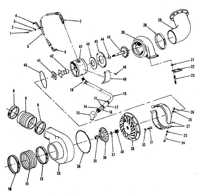 Figure 13-27. Turbocharger, Exploded View, Code A