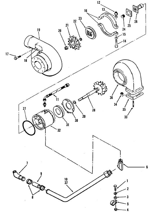 Figure 13-28. Turbocharger, Exploded View, Code B