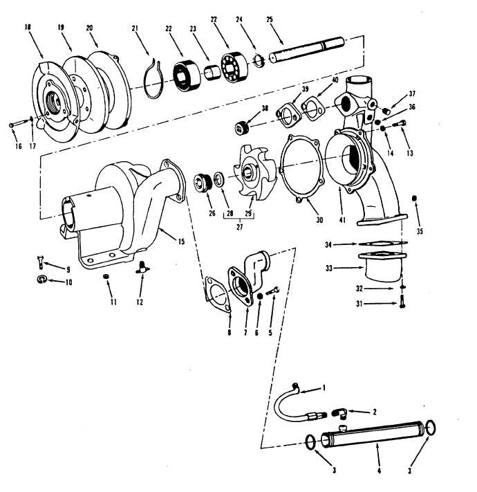 Figure 13-29. Water Pump, Exploded View
