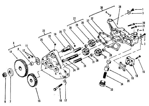 Figure 13-35. Oil Pump, Exploded View