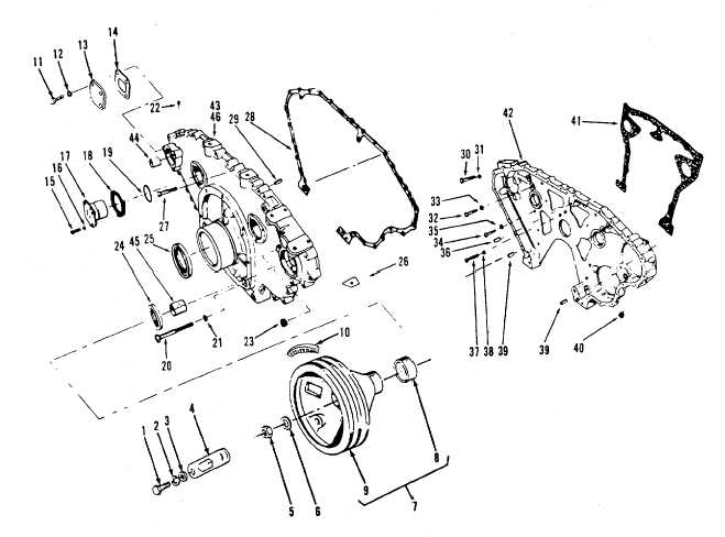 Figure 13-36. Gear Case, Exploded View