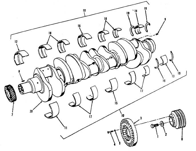 Figure 13-51. Crankshaft, Exploded View