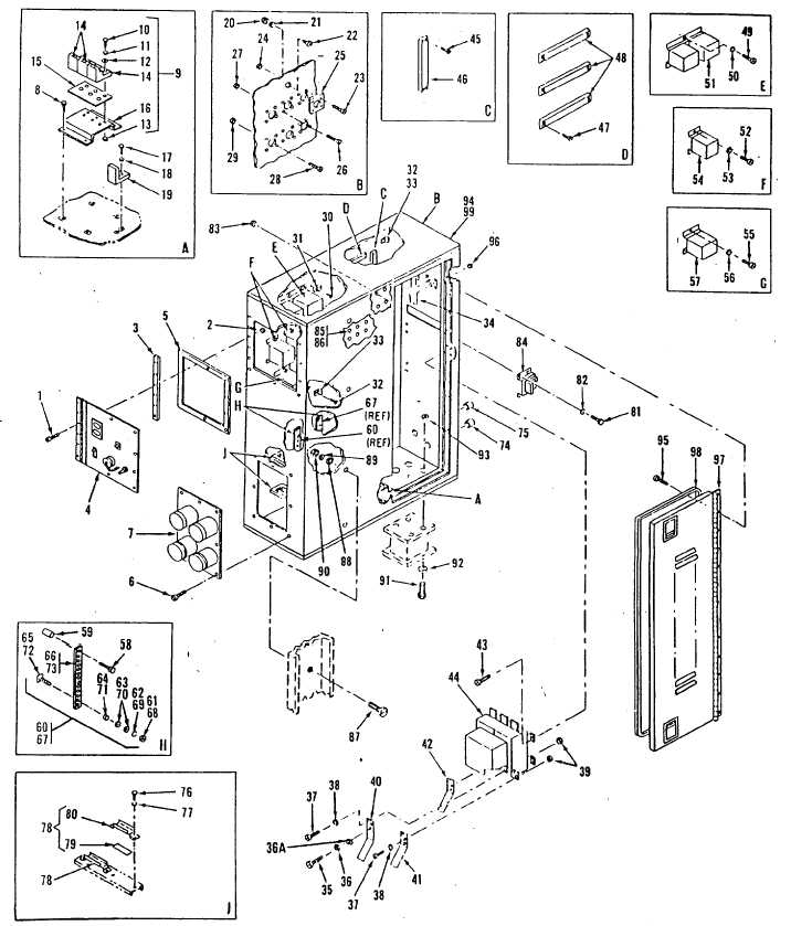 Figure 3-1. External Power Box Assembly, Exploded View