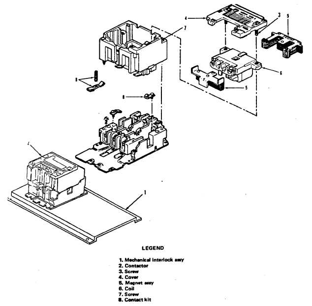 Figure 3-3. Transfer Contactor K108, Exploded View