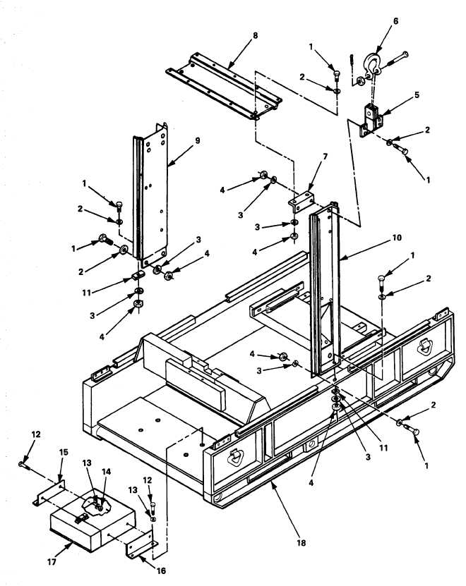 Figure F-20. Document Box, Lifting Frame and Skid Base
