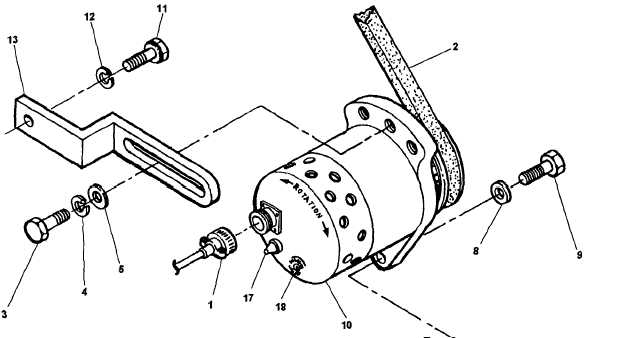 Figure 4-10. Battery Charging Alternator Removal and
