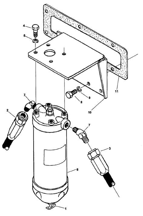 Figure 4-18. Secondary Fuel Filter Assembly, Removal and