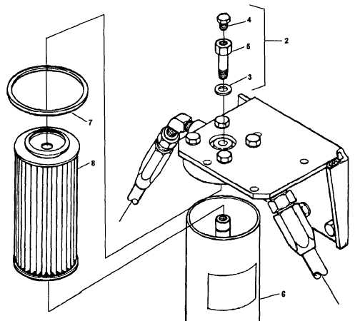 Figure 4-19. Secondary Fuel Filter, Disassembly and Reassembly