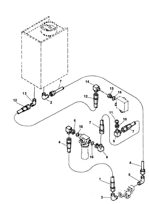 Figure 4-30. Hydraulic Lines and Fittings, Exploded View