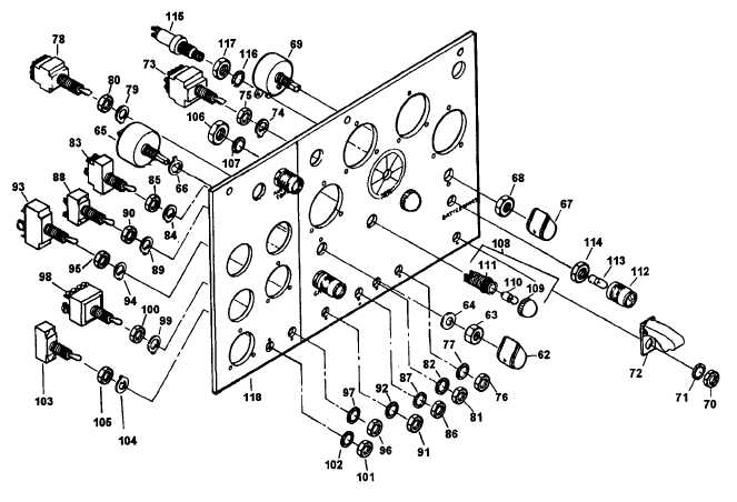 Figure 4-38. Control Cubicle Assembly, Exploded View