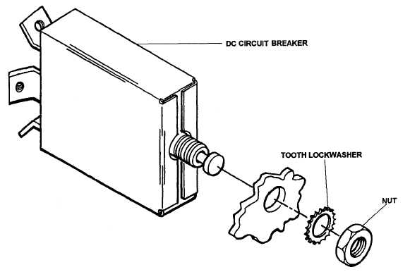 Figure 4-43. DC Circuit Breaker, Removal and Installation