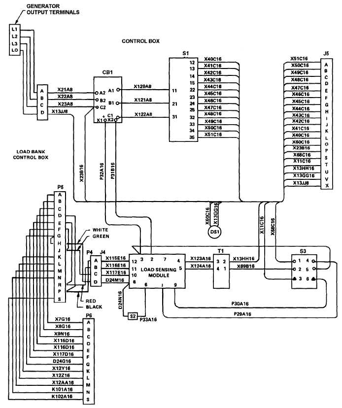 Figure 5-13. Load Bank Wiring Diagram, Dwg. No. 72-2826