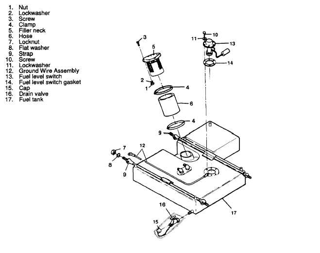 Figure 3-19. Main Fuel Tank (Plastic), Removal and