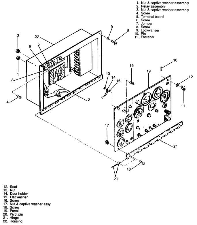 Figure 3-56. Control Cubicle Housing Assembly, Exploded View