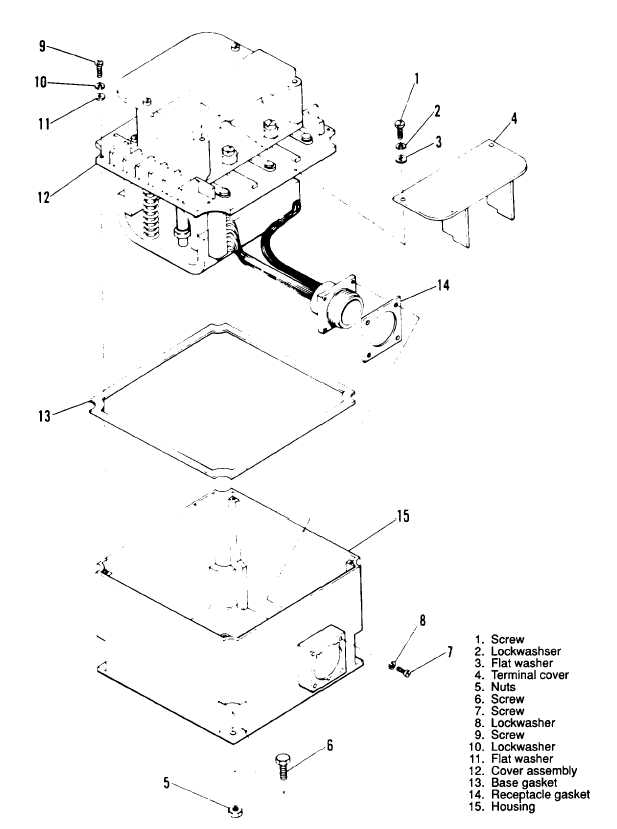 Figure 3-100. Main Load Contactor (Type A), Exploded View