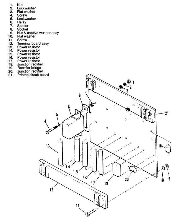 Figure 3122. DC Relay Assembly, Exploded View