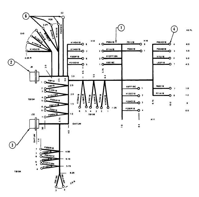Figure 3-128. 50/60 Hz Precise Relay Assembly Wiring