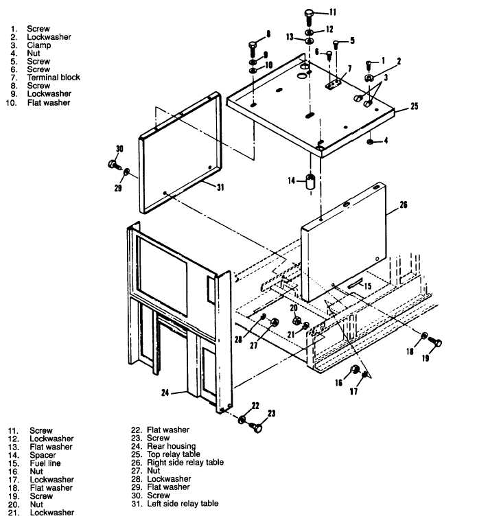 Figure 3-149. Relay Table Assembly, Exploded View