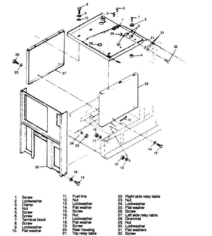 Figure 3-150. Relay Table Assembly, Exploded View
