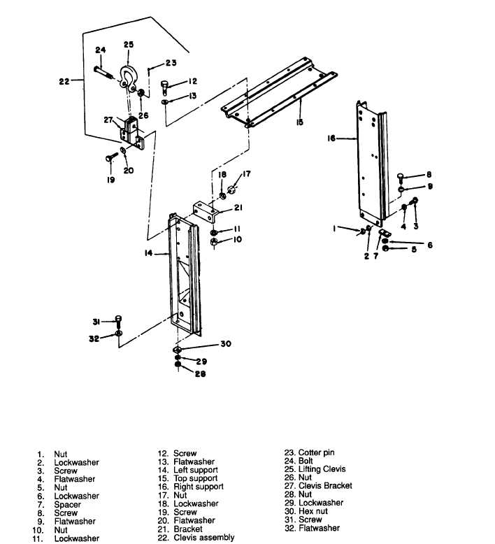Figure 3-151. Lifting Frame, Exploded View