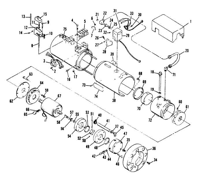 Figure 5-3. Fuel Burning Heater Assembly, Exploded View