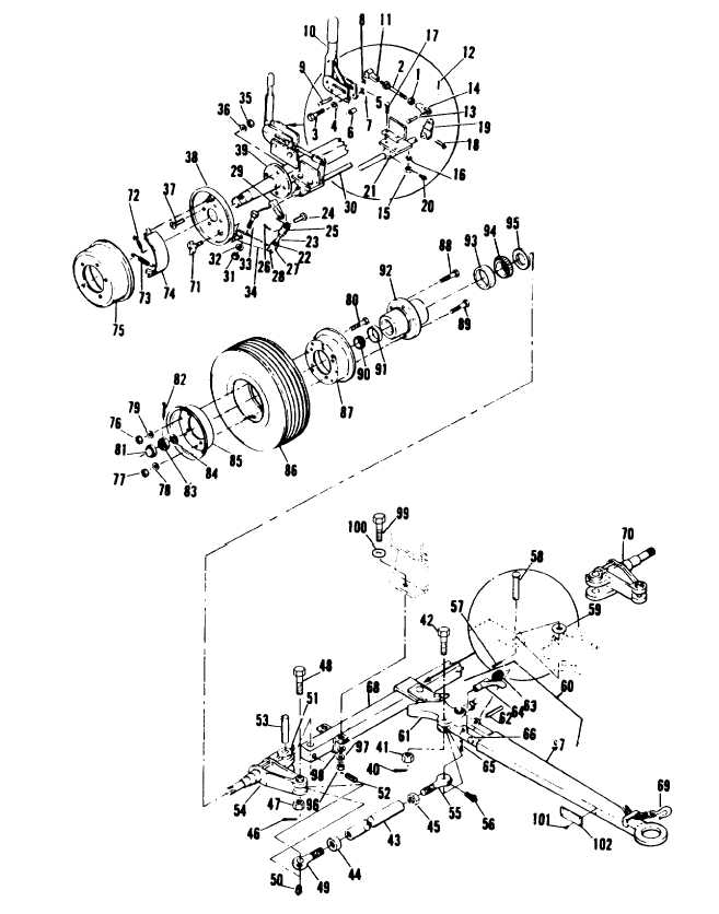 Figure 5-13. Wheel Mounting Kit, Exploded View (Sheet 1 of 2)