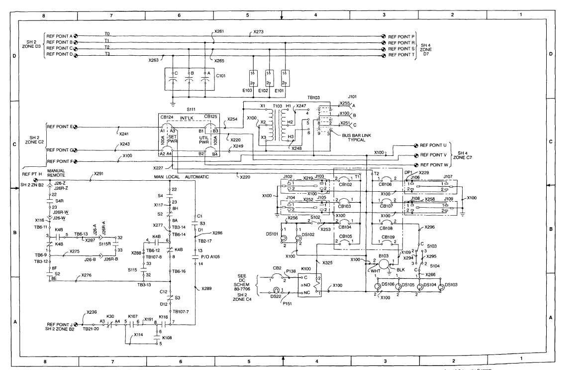 FO-2. AC Schematic Diagram (Sheet 3 of 8)