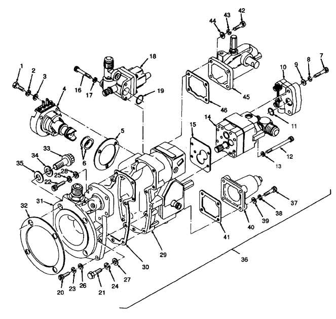 Figure 6-5. Fuel Injection Pump Subassemblies, Exploded